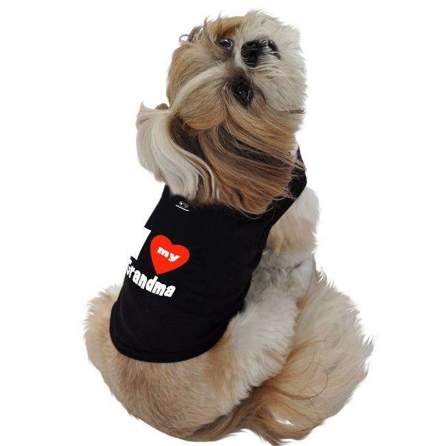 Ruff Ruff and Meow 'I Love My Grandma' Dog Cotton Tank Top