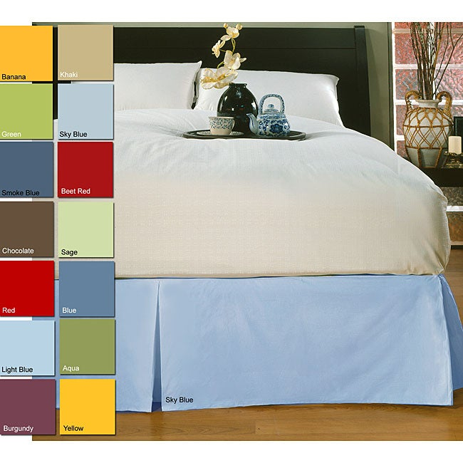 Solid 233 Thread Count Corner-split Bedskirt