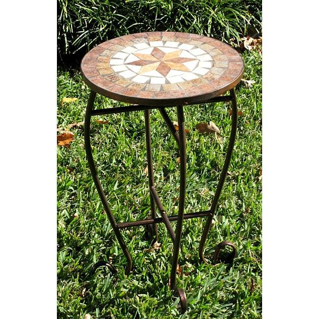 Iron/ Mosaic Round Plant Stand