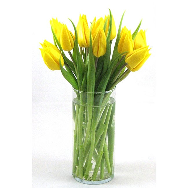 Yellow Tulips with Vase - Thumbnail 0