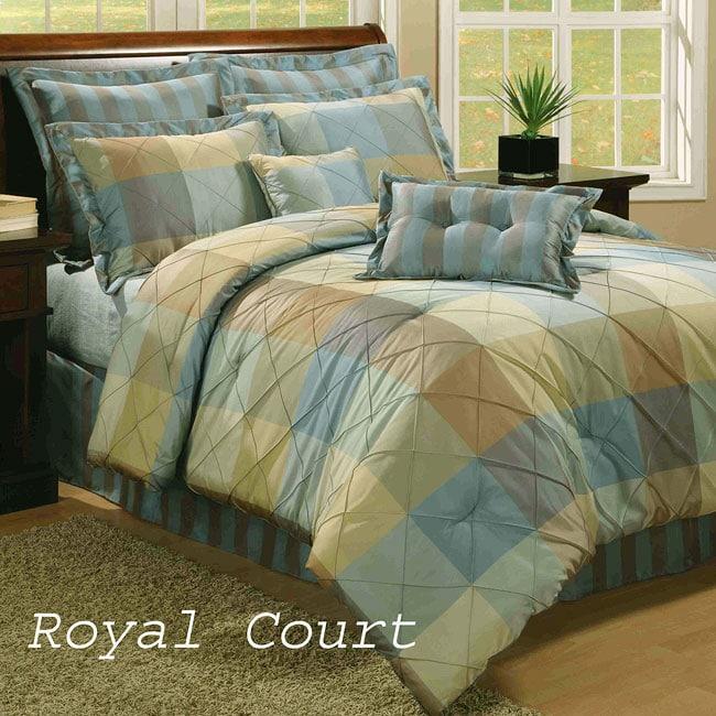 Royal Court 8-piece Blue Comforter Set