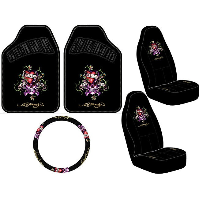 Ed Hardy Love Kills 5-piece Auto Set