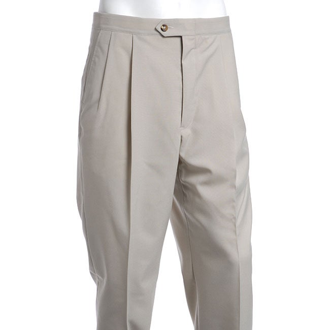 Sansabelt Men's Two Pleat Beltless Pants