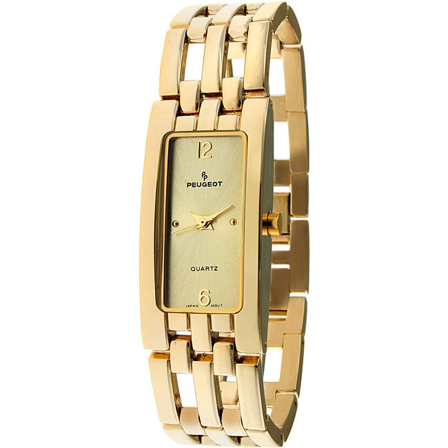 Peugeot Women's Goldtone Open-link Bracelet Watch