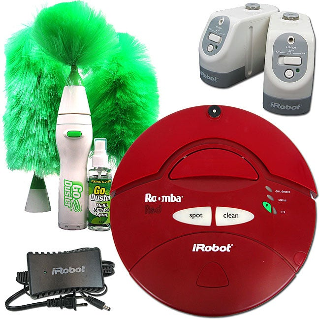 Shop Irobot Roomba Red Vacuum Cleaner With Duster