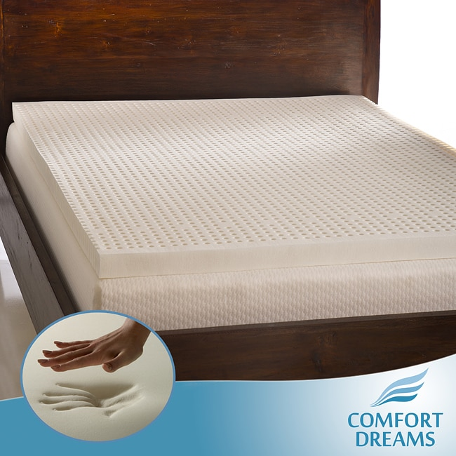 Comfort Dreams Ventilated 3-inch Queen/ King-size Memory Foam Mattress Topper