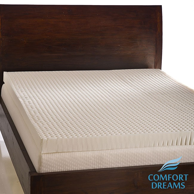 Comfort Dreams Ventilated 4-inch Memory Foam Mattress Topper