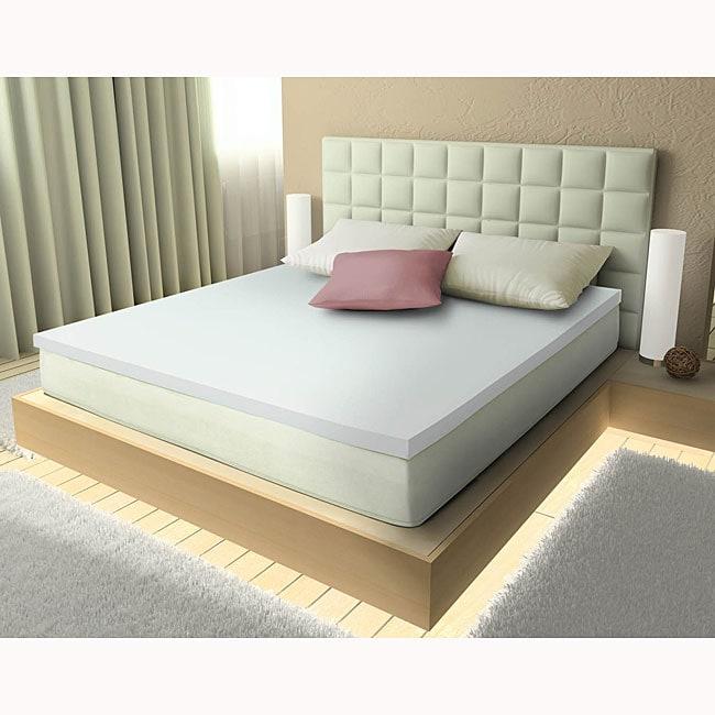 Shop Comfort Dreams Aerus Natural Memory Foam 3 Inch Mattress Topper
