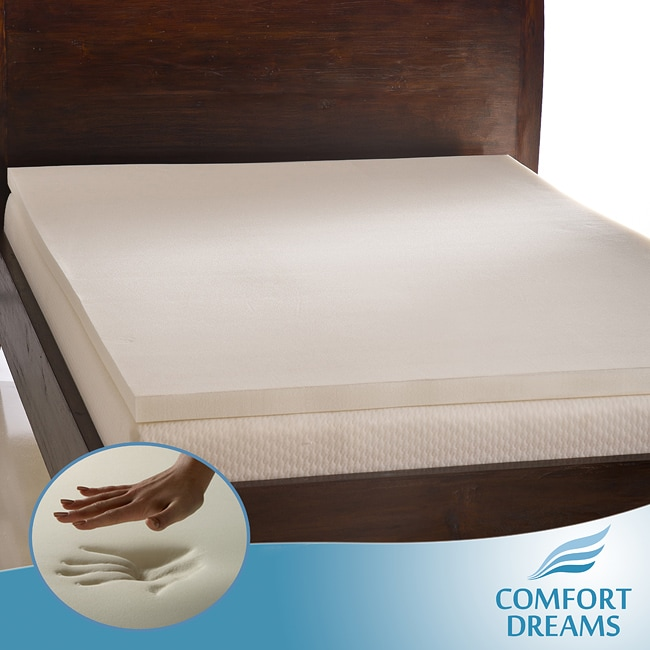 Comfort Dreams Ultra Soft 2-inch Memory Foam Mattress Topper