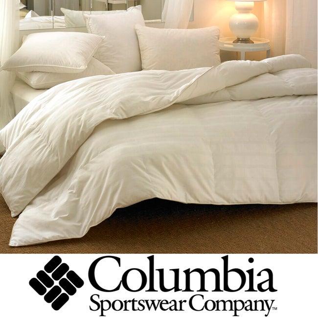 Columbia Oversized T300 Down Alternative White Comforter