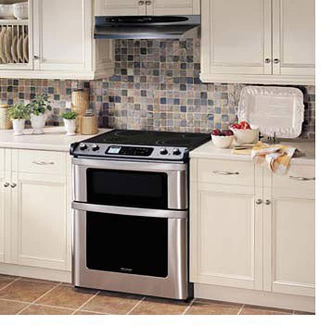 shop sharp insight series kb4425ls electric range free shipping