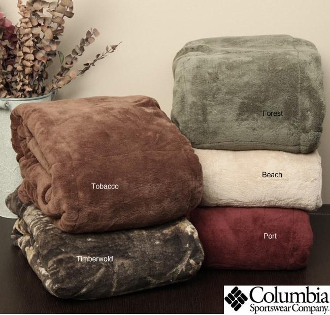 Columbia Down Alternative Fleece Throw Blanket