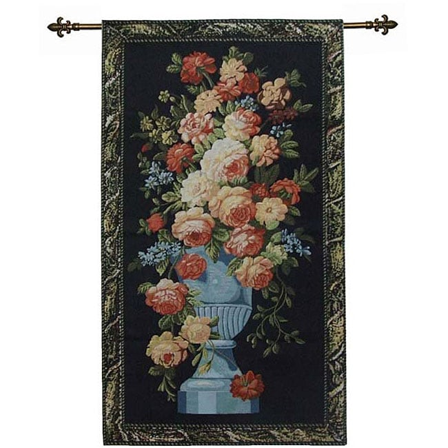 Rose Floral Bouquet Wall Art Tapestry