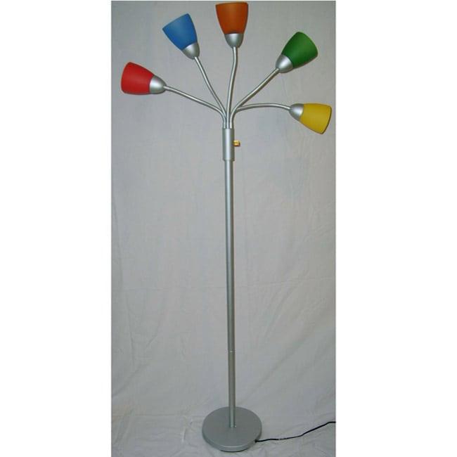 Medusa 5 arm contemporary floor lamp free shipping on for Modern 5 arm floor lamp