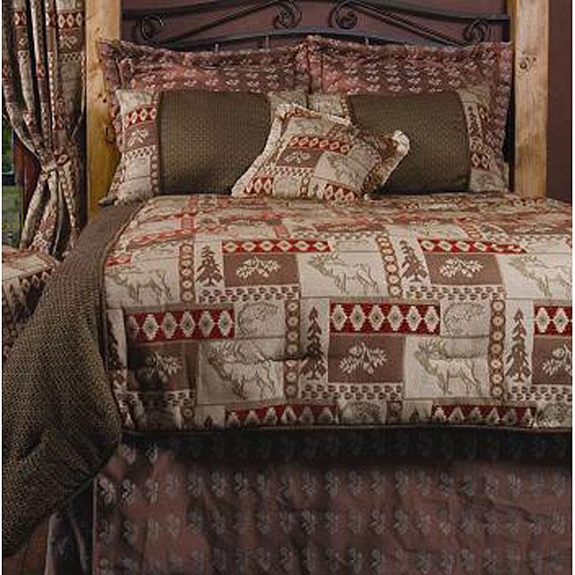 King-size 7-piece Elk Patchwork Comforter Set