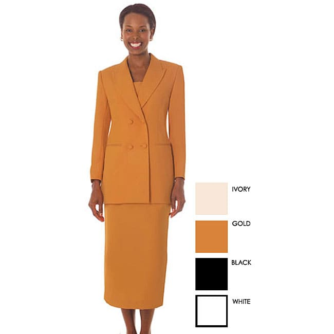 Shop Gmi Womens Plus Size Double Breasted Skirt Suit Free