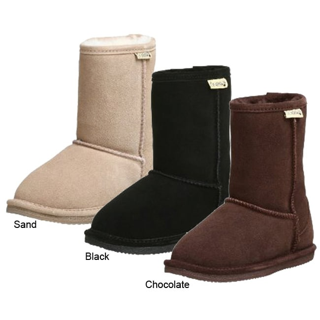 Bearpaw Children's Flat Sole Shearling Boots