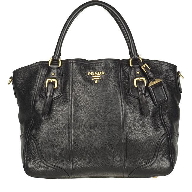 6a8009d55a09 ... new zealand prada cervo antik 1 black leather tote 537ff b70e5