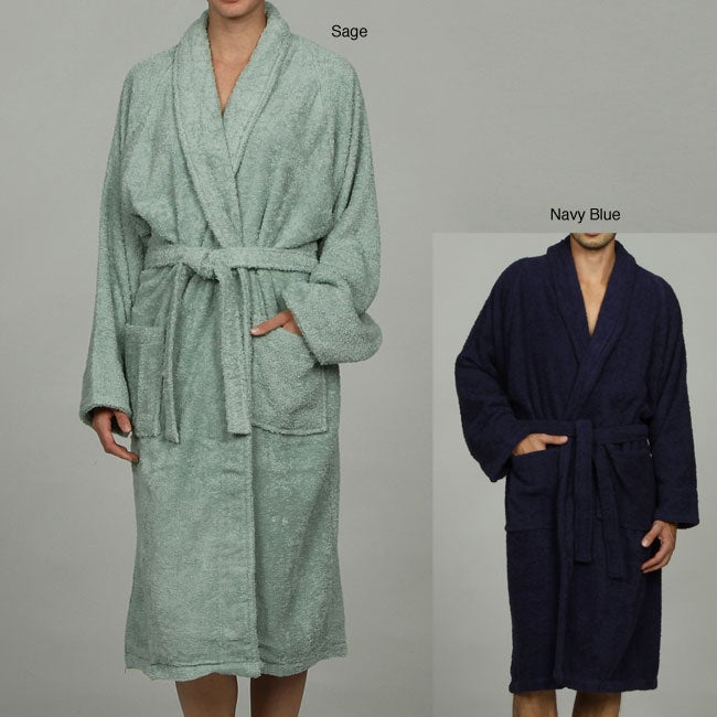 6251eb2a25b Shop Unisex Egyptian Cotton Terry Bathrobe - Free Shipping On Orders Over   45 - Overstock - 3711121
