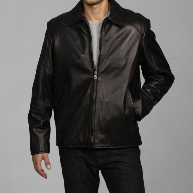 Izod Men's New Zealand Lamb Leather Jacket