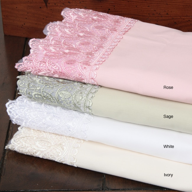 Sabrina 250 Thread Count Lace Sheet Set