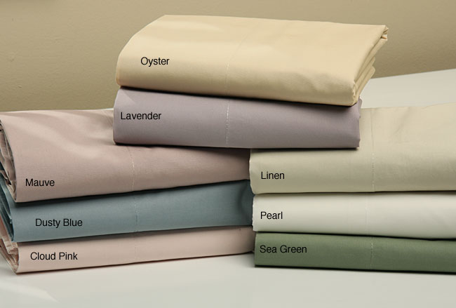 Solid Percale 350 Thread Count Pillowcases (Set of 2)