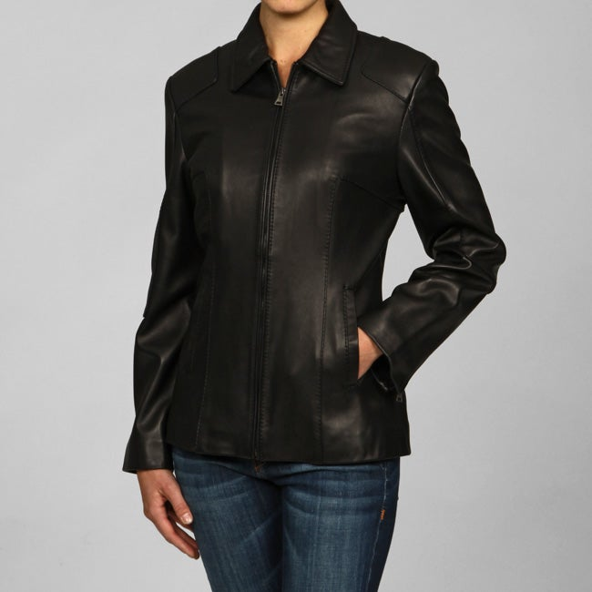 4d27463b41b Shop IZOD Women s Plus Size Scuba-style Leather Jacket - Free Shipping  Today - Overstock - 3712652