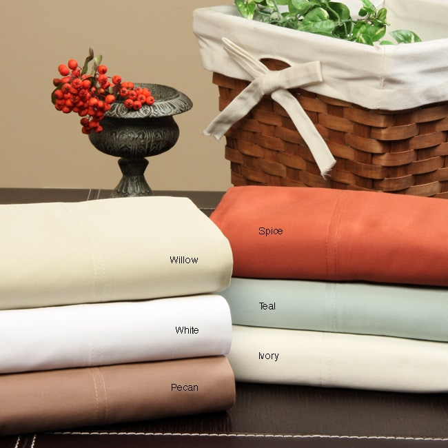 Imperial Egyptian Cotton 350 Thread Count Sateen Sheet Set - Thumbnail 0