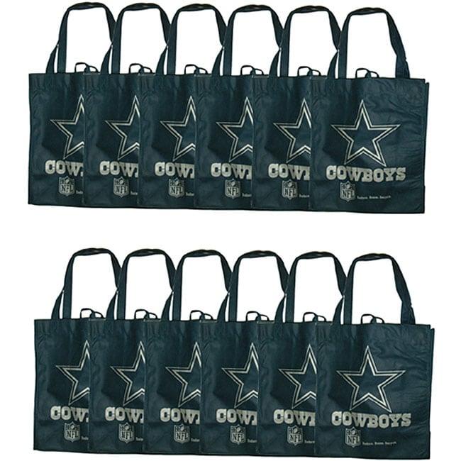 Dallas Cowboys Reusable Bags (Pack of 12)