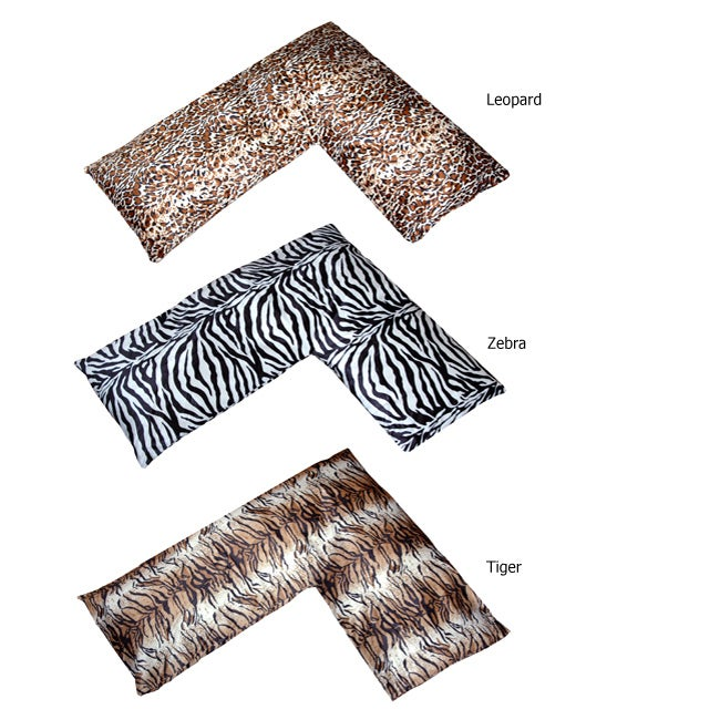 Plush Animal Print L-shaped Body Pillow