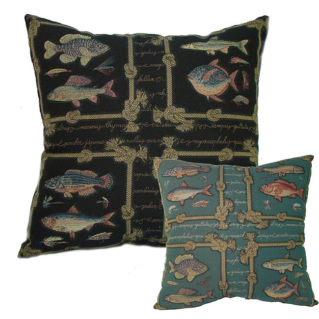 Framed Fish Large 24-inch Floor Pillow