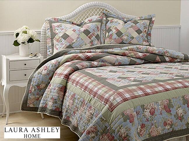 Laura Ashley Brookshire Floral Patchwork Quilt Set Free