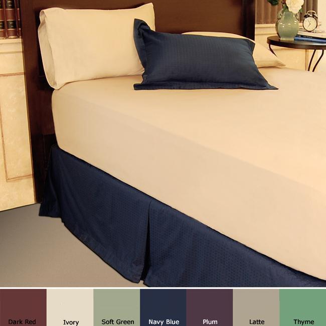 Famous Maker 300 Thread Count Dobby Design Bed Skirt
