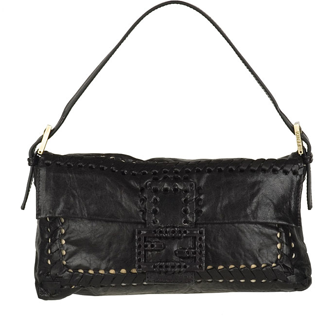 Fendi Small Black Parchment Handbag