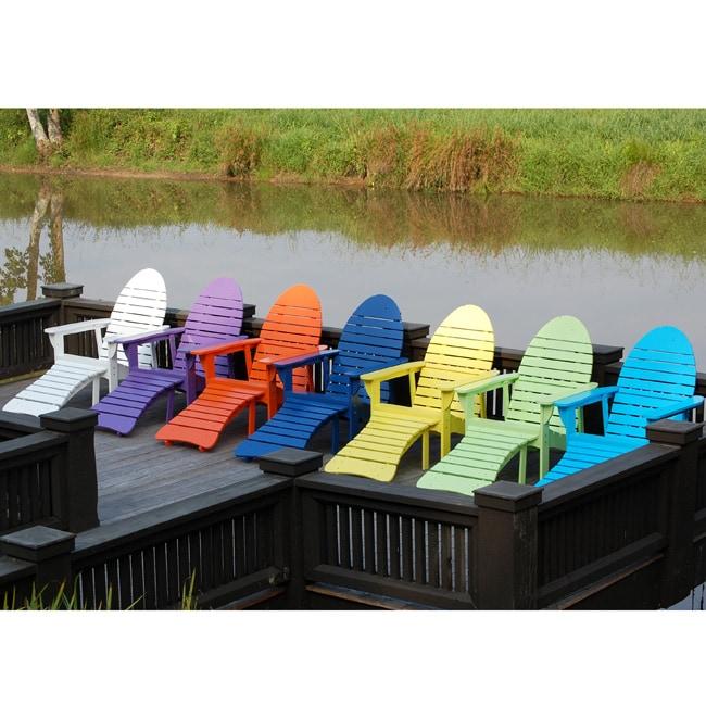 Cedar Fish Shaped Adirondack Chair With Ottoman