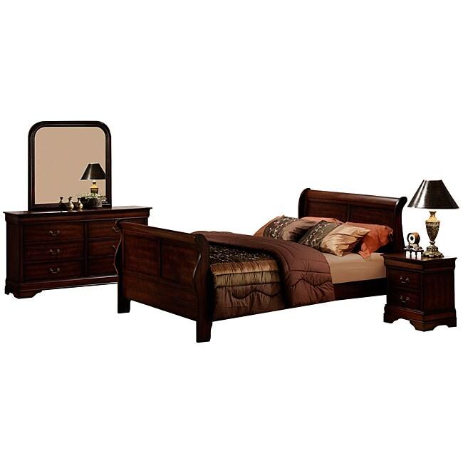 Madison Louis Philippe 4-piece Bedroom Suite Set