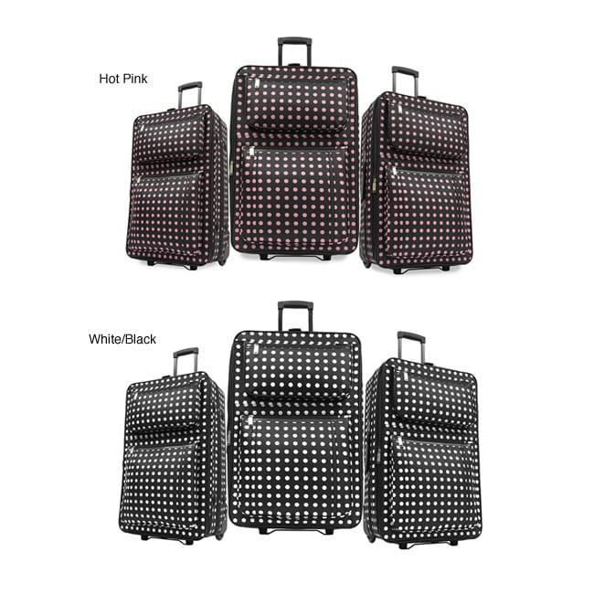 Fashion Polka Dot 3-piece Luggage Set