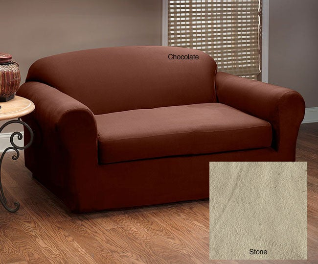 stretch microfiber suede 2piece sofa slipcover