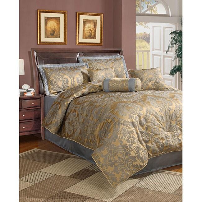 Halifax 7-piece Blue Comforter Set