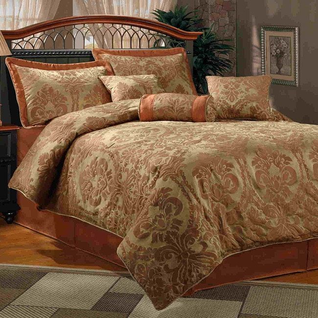 Halifax 7 Piece Rust Comforter Set Free Shipping Today