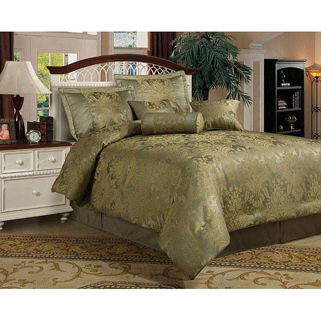 Facade 7-piece Sage Comforter Set