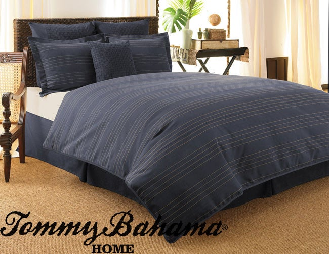Tommy Bahama Indigo Grass Cloth Duvet