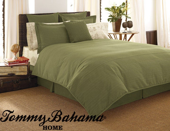 Tommy Bahama Green Cactus Duvet Cover