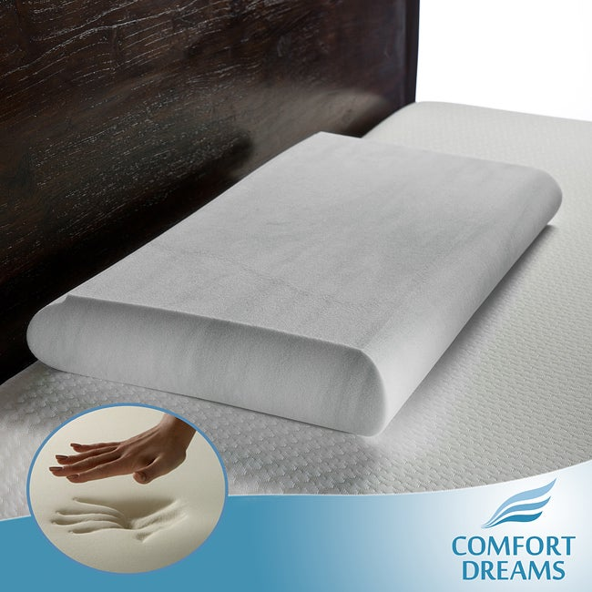 Comfort Dreams EnviroGreen Crowned Low Profile King-size Memory Foam Pillow
