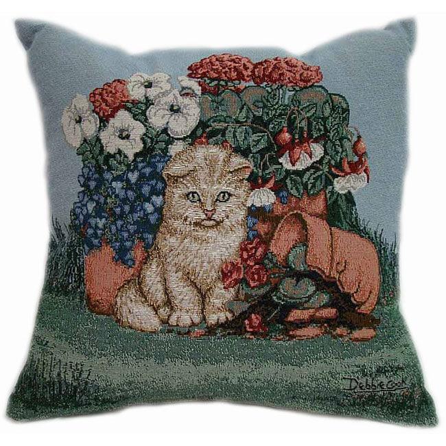 Sad Kitty Tapestry Throw Pillows (Set of 2)