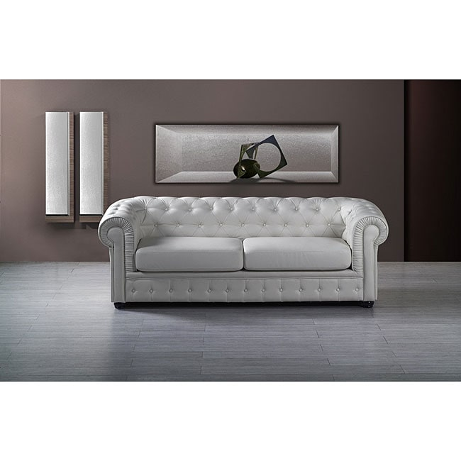 Chesterfield Tufted Leather Sofa - Chesterfield Tufted Leather Sofa - Free Shipping Today - Overstock