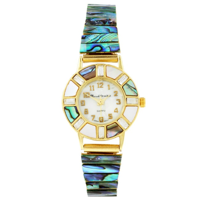 Marcel Drucker Collection Women S Abalone Shell Watch