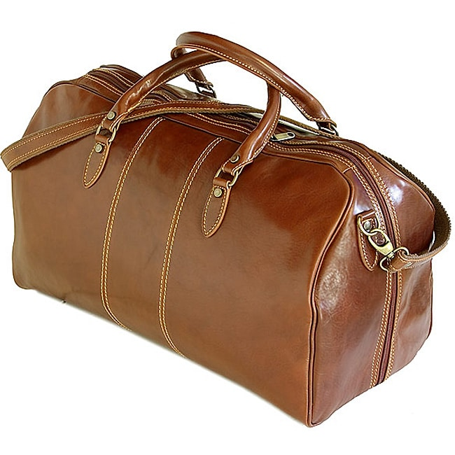 Floto Leather Venezia Leather Duffel Bag