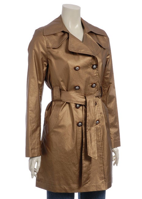 Via Spiga Women's Bronze Fashion Trench Coat
