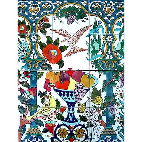 Backsplash Flying Bird 12-tile Ceramic Wall Mural